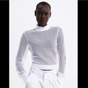 Zara White Sweater size Small NWT